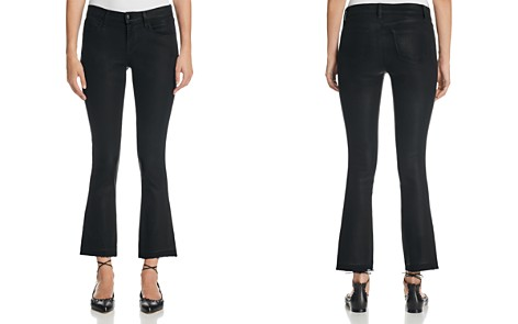 J Brand Selena Mid Rise Coated Crop Jeans in Fearless - Bloomingdale's_2
